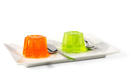 Orange and green Jelly Royalty Free Stock Photos