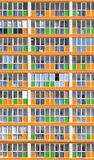 Orange and Green Modern Housing Apartments Stock Images