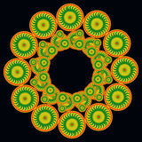 Orange and green pattern. Royalty Free Stock Images