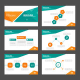 Orange and green presentation template Infographic elements flat design set for brochure flyer leaflet marketing Royalty Free Stock Photography