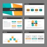 Orange green presentation templates Infographic elements flat design set for brochure flyer leaflet marketing Royalty Free Stock Images
