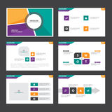 Orange green purple Abstract presentation template Infographic elements flat design set for brochure flyer leaflet marketing. Advertising Royalty Free Stock Images