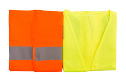 Orange And Green Reflective Vest I Royalty Free Stock Photos