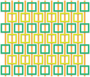 Orange and green square pattern vector illustration