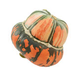 Orange and green striped Turban squash Royalty Free Stock Images