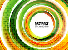 Orange and green swirl shapes modern background Royalty Free Stock Photo