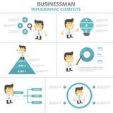 Orange green tone presentation templates Infographic elements flat design set for brochure flyer leaflet marketing Stock Images