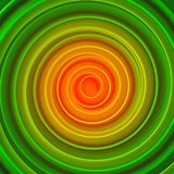 Orange and green twisted hypnotic shape abstract 3D rendering. Orange and green twisted hypnotic shape. Computer designed abstract 3D rendering Stock Photo