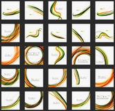 Orange and green wave line design, nature eco. Concept. Summer and spring templates Royalty Free Stock Photography