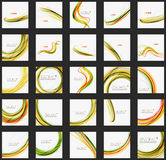 Orange and green wave line design, nature eco Royalty Free Stock Photos
