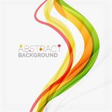 Orange and green wave line design, nature eco. Concept. Summer and spring templates Royalty Free Stock Photo