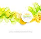 Orange and green wave line design. Vector Orange and green wave line design.  Summer and spring templates Stock Photos