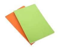 Orange and green writing-books Stock Image