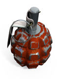 Orange grenade 3d Royalty Free Stock Photography