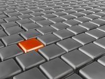 Orange and grey cubes. As abstract background, 3D illustration vector illustration