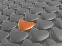 Orange and grey hearts Royalty Free Stock Photography