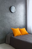 Orange and grey room Royalty Free Stock Image
