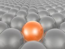 Orange and grey spheres. As abstract background, 3D illustration vector illustration