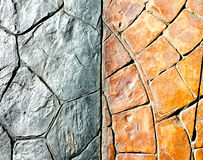 Orange and grey stone block pavement texture Royalty Free Stock Images