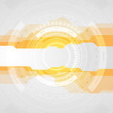Orange and grey tech abstract gear HUD graphic design. Vector sci-fi background vector illustration