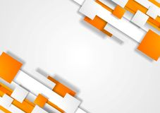 Orange grey tech corporate background Stock Images