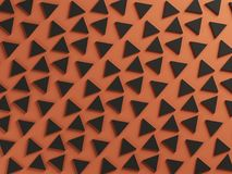 Orange and black two color textured background Stock Photography