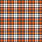 Orange, Grey, & White Plaid Royalty Free Stock Image