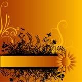 Orange Grunge Background Stock Photography