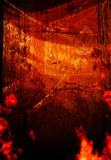 Orange Grunge Background. Crackled and flaming orange grunge background texture Stock Photos