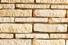 Orange grunge brick wall background, with deep gaps Royalty Free Stock Photos