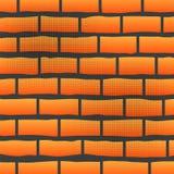 Orange Grunge Brick Wall Stock Photos