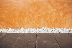 Orange grunge concrete wall textured and background Royalty Free Stock Images