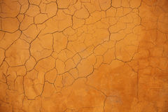 Orange grunge concrete wall textured and background Stock Photography
