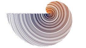Orange grunge en spirale à la texture violette Images libres de droits