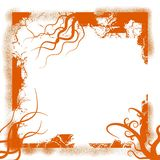 Orange grunge frame Stock Photography