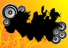 Orange grunge party banner Stock Images