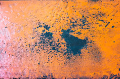 Orange Grunge rustic textured metal background.  Royalty Free Stock Photography