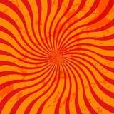 Orange grunge sunburst Royalty Free Stock Images