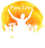 Orange grunge watercolored party background Royalty Free Stock Images