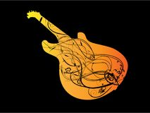 Orange guitar Royalty Free Stock Images