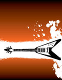 Orange Guitar Background Royalty Free Stock Image