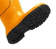 The orange gumboot Royalty Free Stock Image