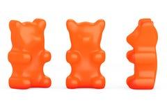 Orange Gummy Candy Bears Royalty Free Stock Photos