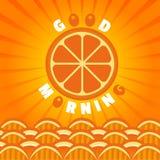 Orange guter Morgen Stockbild