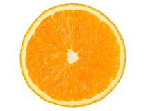 Orange Hälfte auf Weiß Lizenzfreies Stockbild