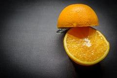 Orange Hälften Stockfotografie