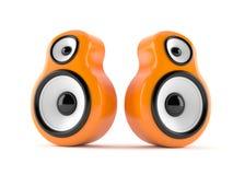 Orange högtalare Arkivfoton