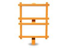 Orange hölzernes getrenntes Zeichen Lizenzfreie Stockfotografie