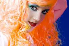 Orange haired fairy girl Royalty Free Stock Images
