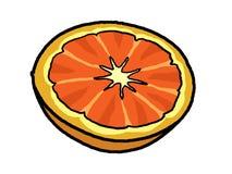 Orange halbe Abbildung   Lizenzfreie Stockbilder